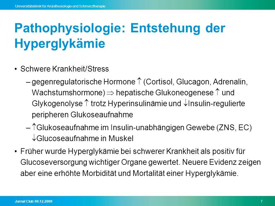 Pathophysiologie: Entstehung der Hyperglykämie