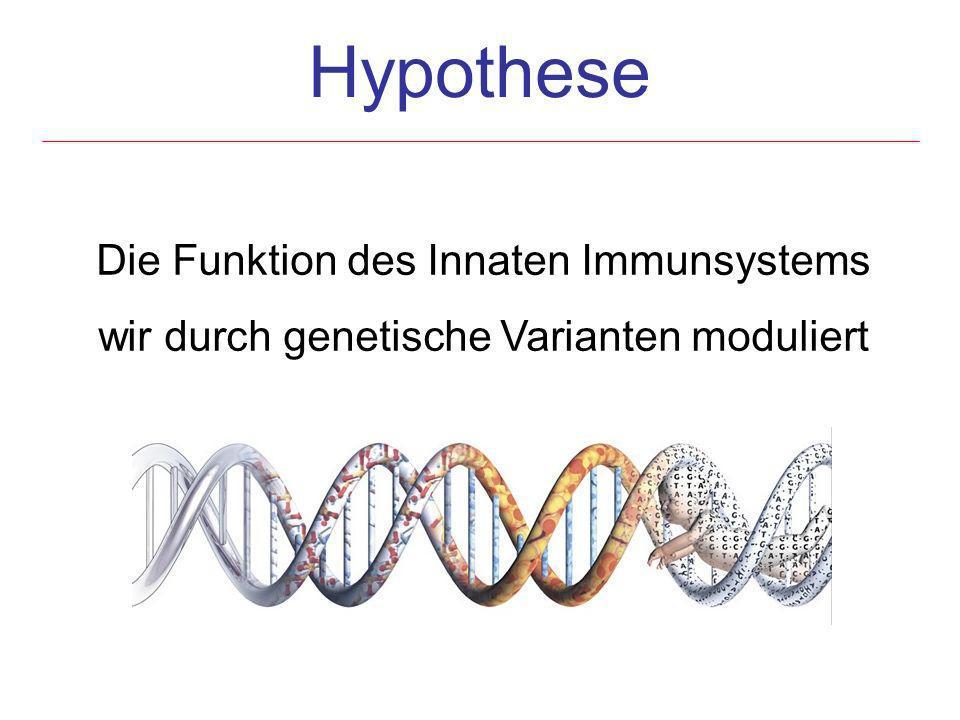 Hypothese Die Funktion des Innaten Immunsystems wir durch genetische Varianten moduliert
