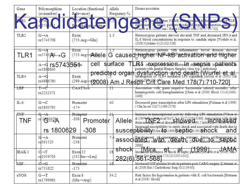 Kandidatengene (SNPs)