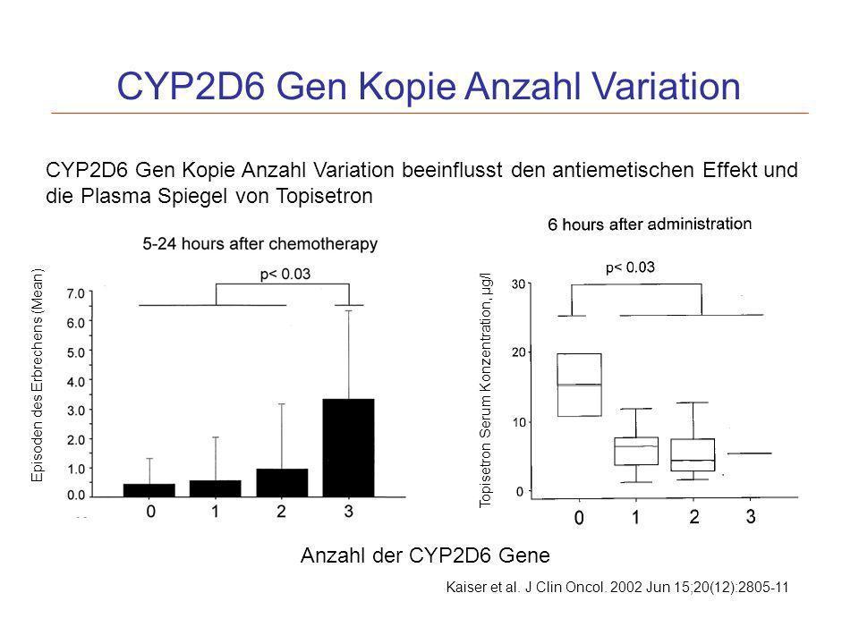 CYP2D6 Gen Kopie Anzahl Variation