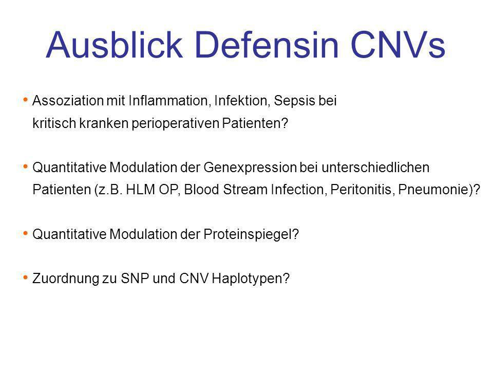 Ausblick Defensin CNVs
