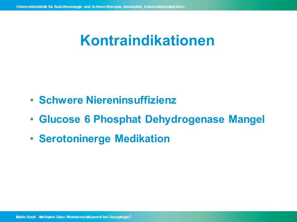 Kontraindikationen Schwere Niereninsuffizienz