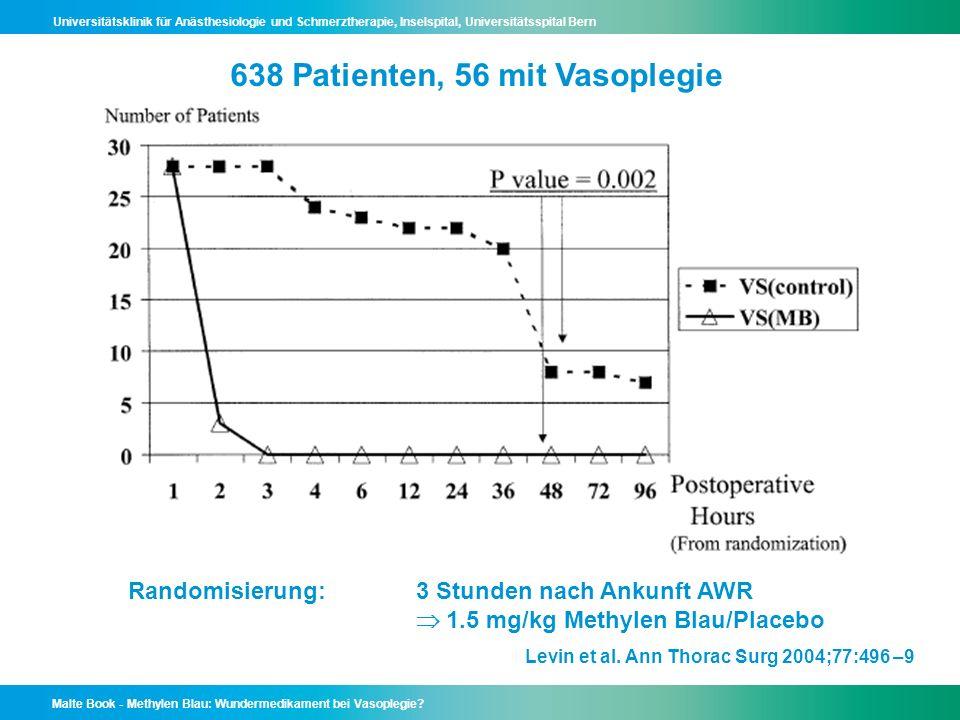 638 Patienten, 56 mit Vasoplegie