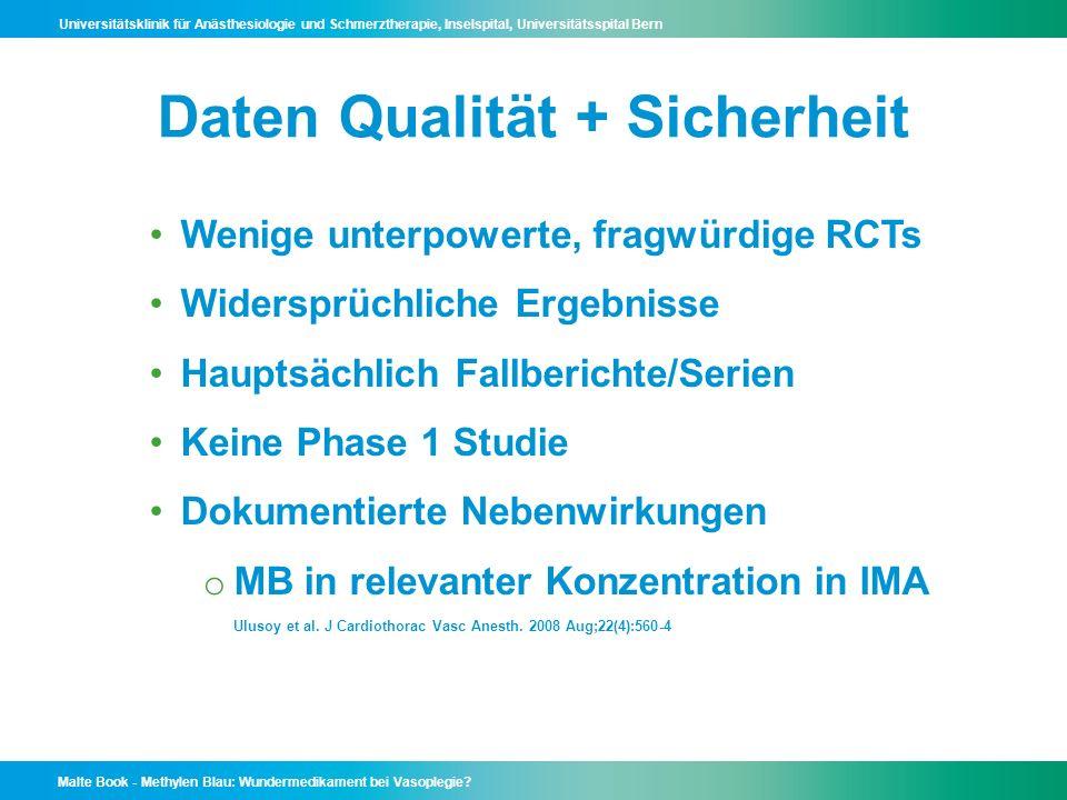 Daten Qualität + Sicherheit