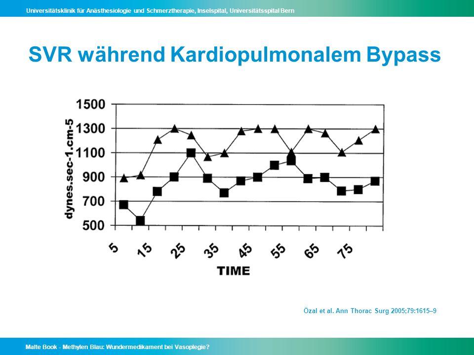 SVR während Kardiopulmonalem Bypass