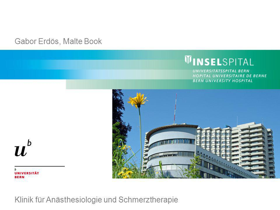 Gabor Erdös, Malte Book Klinik für Anästhesiologie und Schmerztherapie