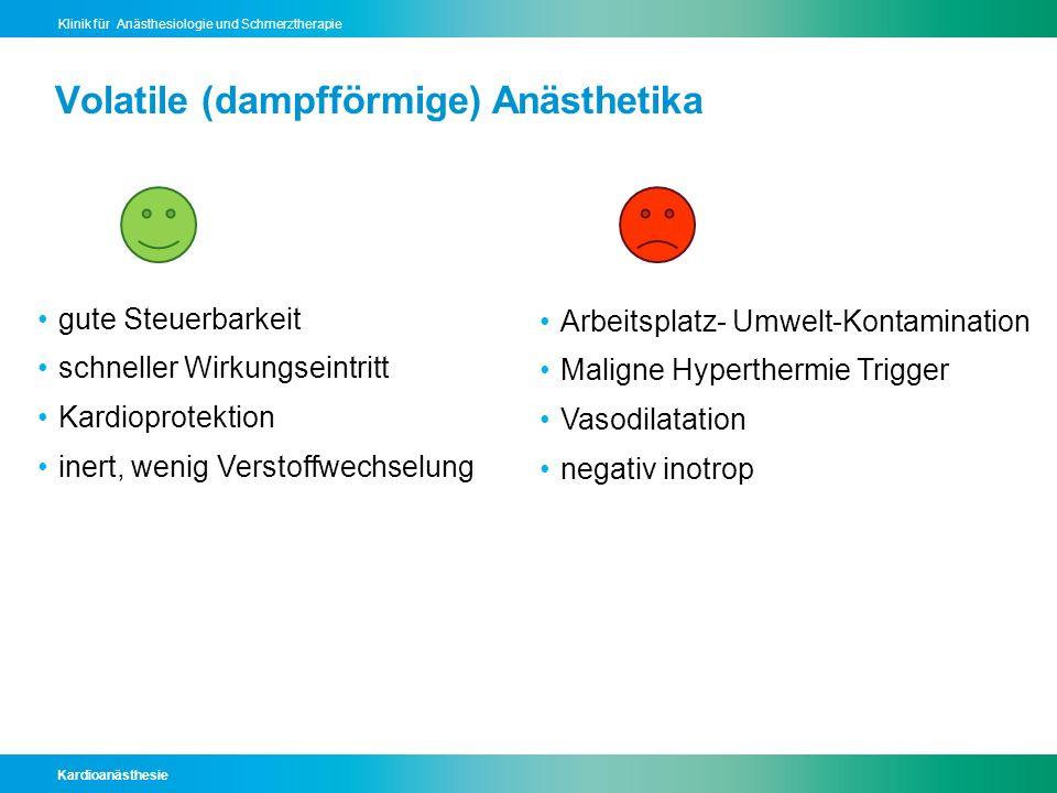 Volatile (dampfförmige) Anästhetika