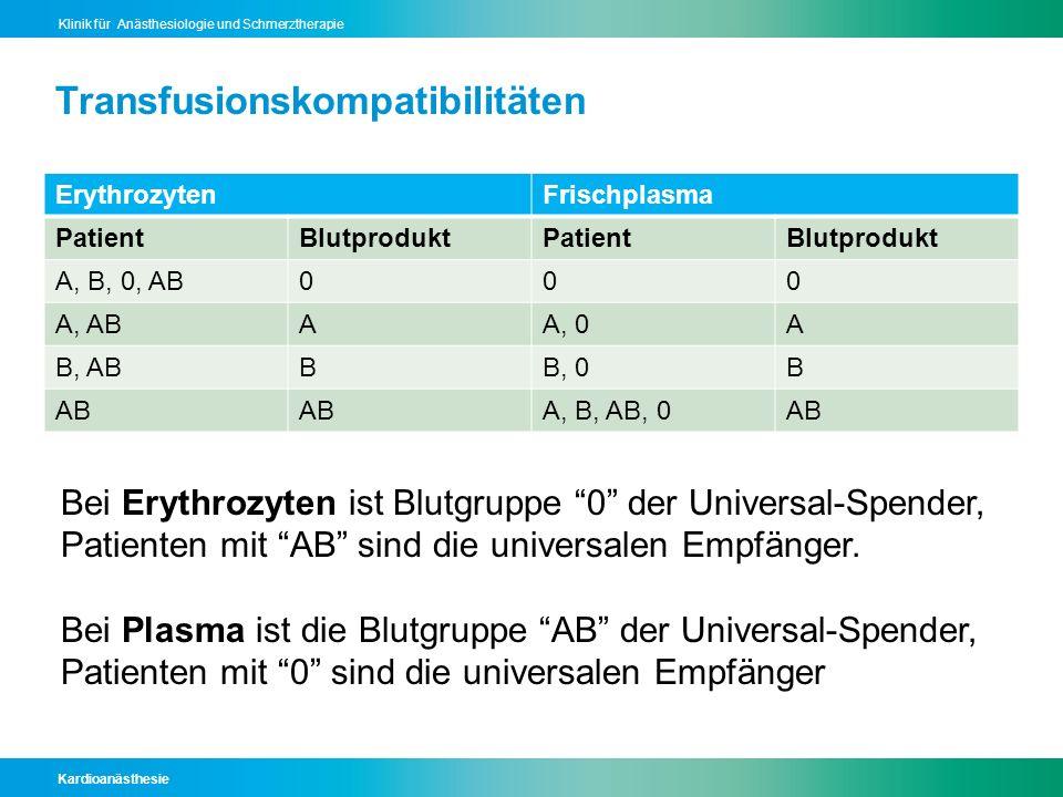 Transfusionskompatibilitäten