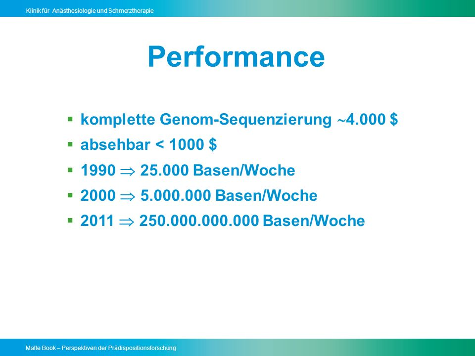 Performance komplette Genom-Sequenzierung 4.000 $