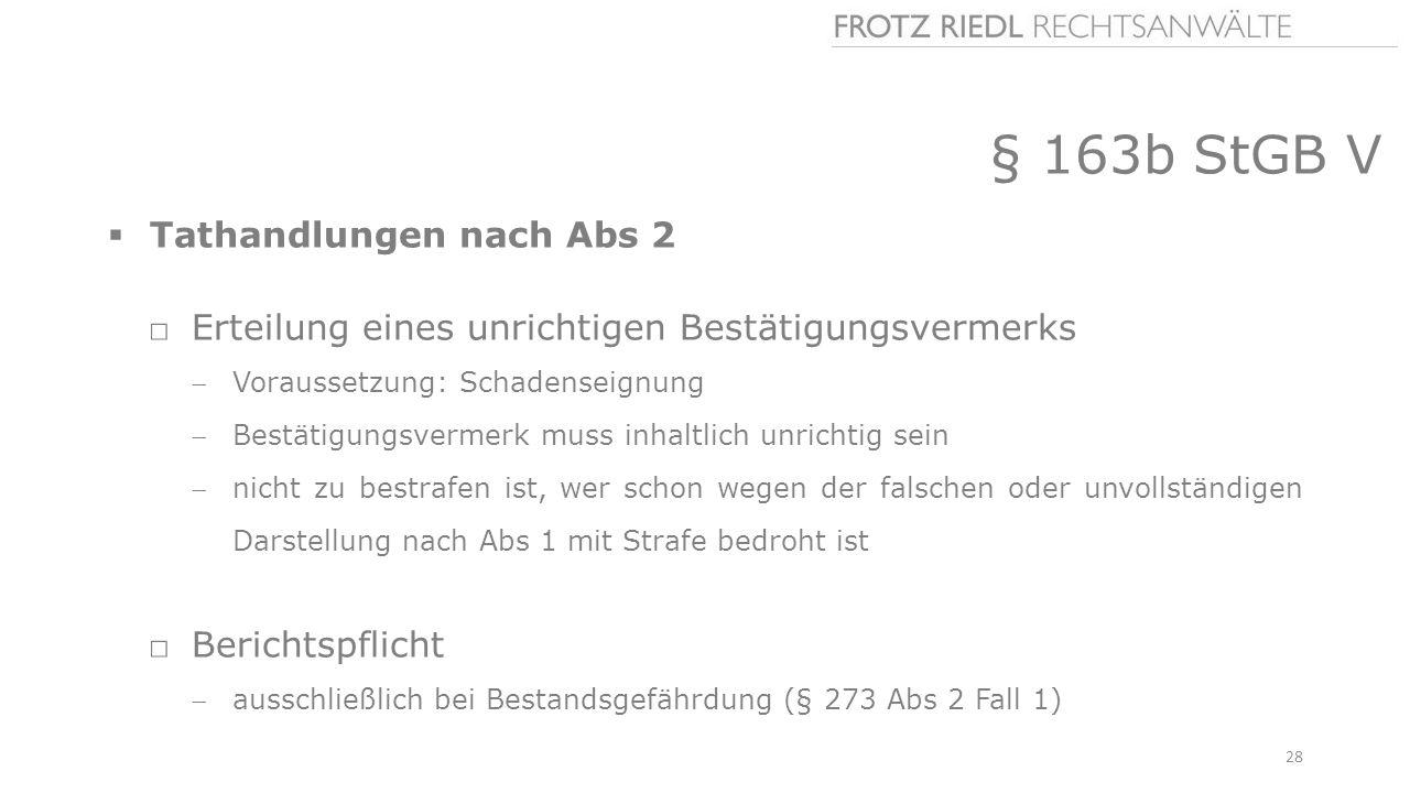 § 163b StGB V Tathandlungen nach Abs 2