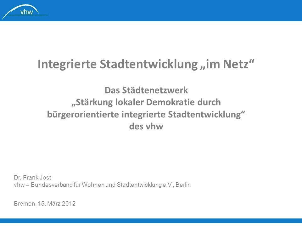 """Integrierte Stadtentwicklung """"im Netz"""