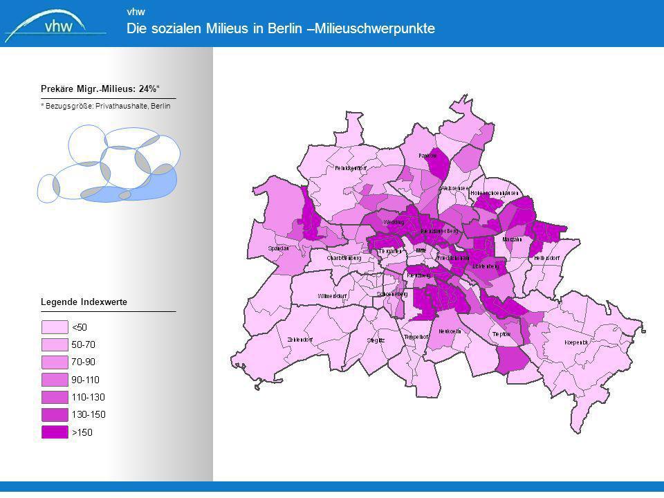 Die sozialen Milieus in Berlin –Milieuschwerpunkte
