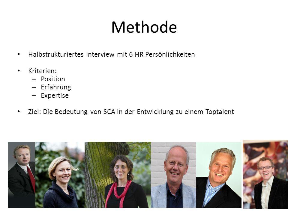Methode Halbstrukturiertes Interview mit 6 HR Persönlichkeiten