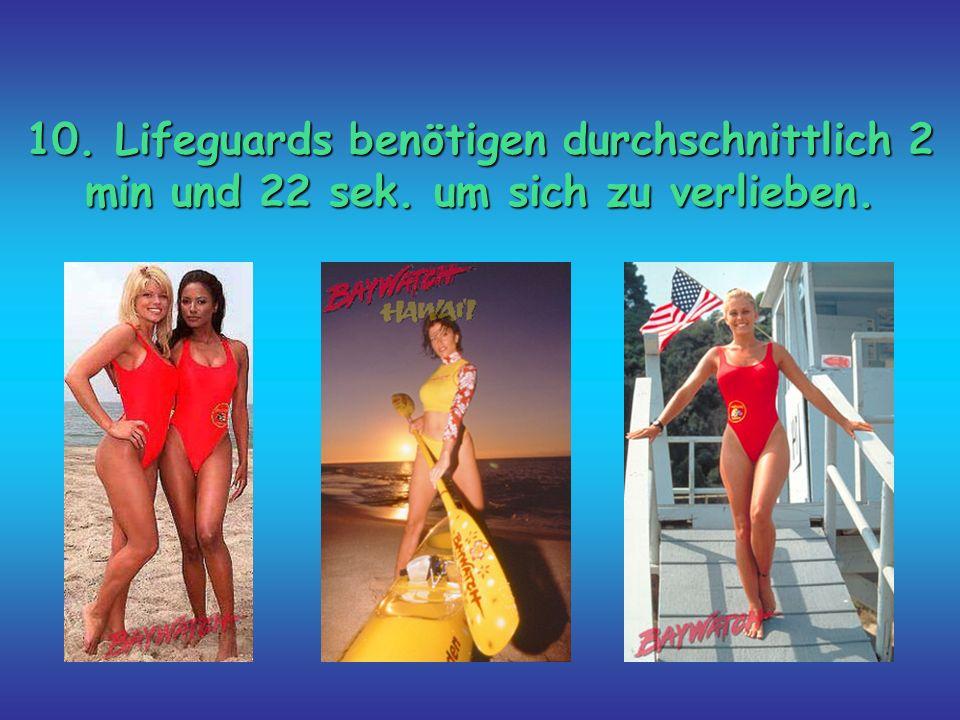 10. Lifeguards benötigen durchschnittlich 2 min und 22 sek