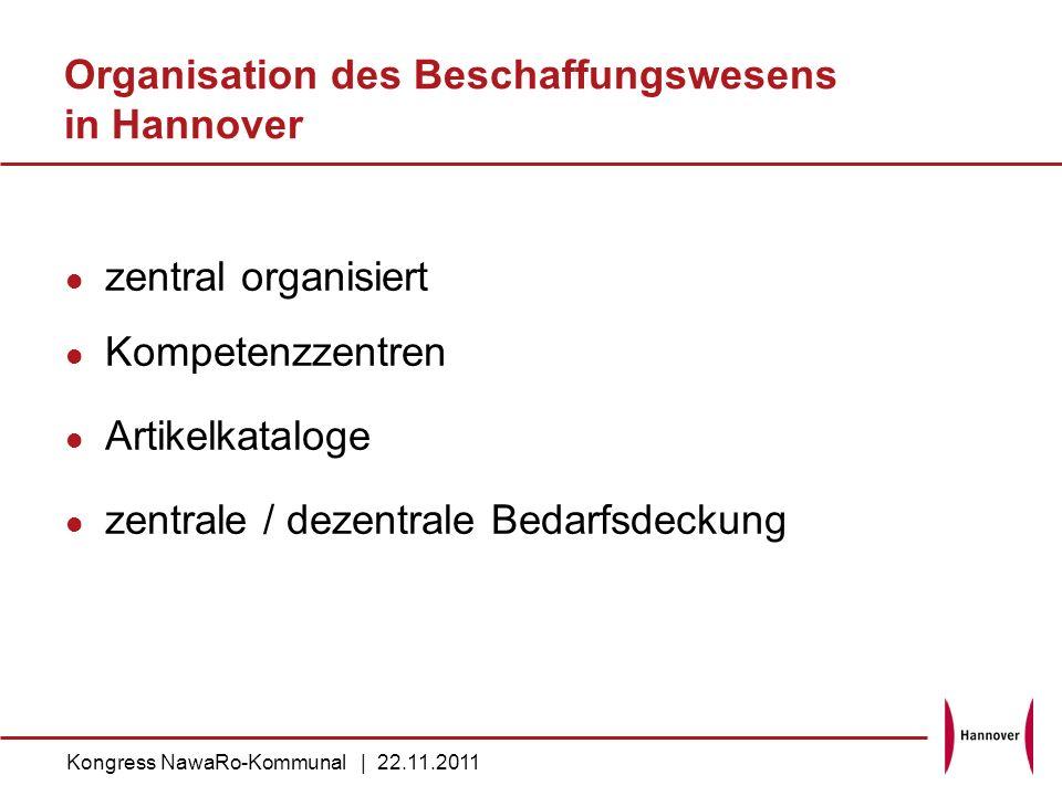 Organisation des Beschaffungswesens in Hannover
