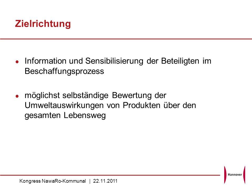 Zielrichtung Information und Sensibilisierung der Beteiligten im Beschaffungsprozess.