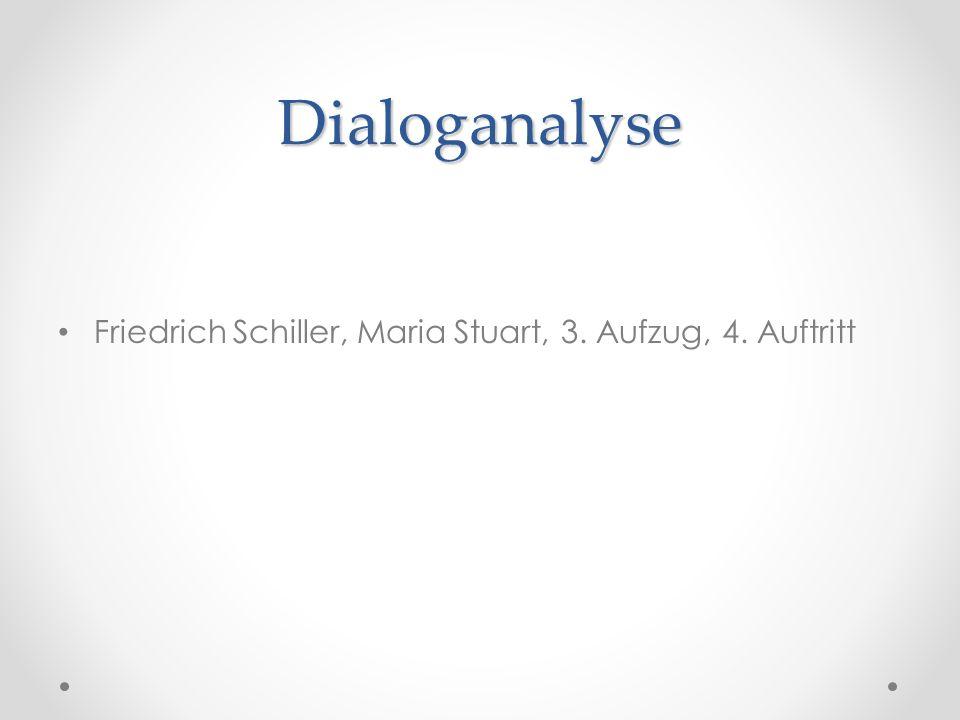 Dialoganalyse Friedrich Schiller, Maria Stuart, 3. Aufzug, 4. Auftritt