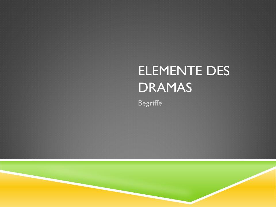 Elemente des Dramas Begriffe