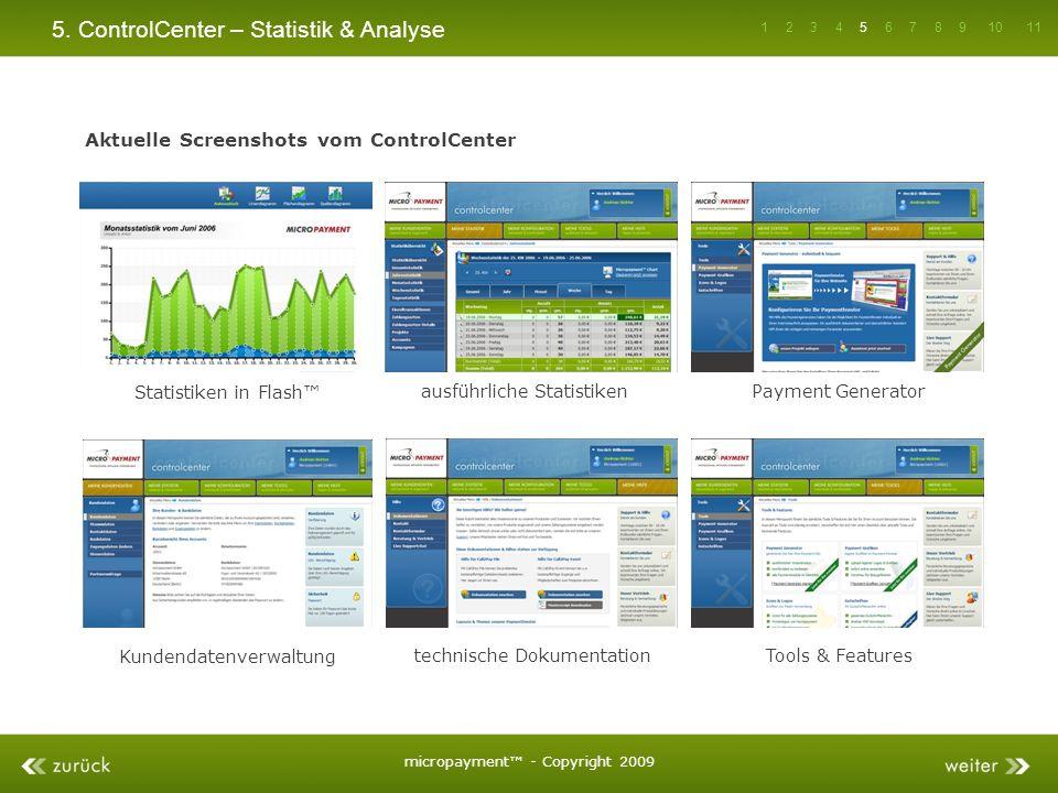 5. ControlCenter – Statistik & Analyse