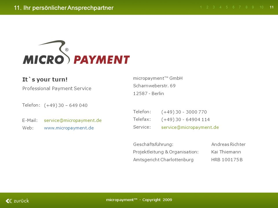 micropayment™ - Copyright 2009
