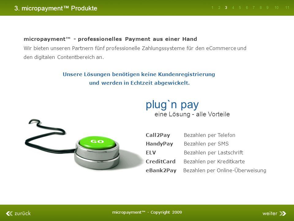 plug`n pay 3. micropayment™ Produkte eine Lösung - alle Vorteile