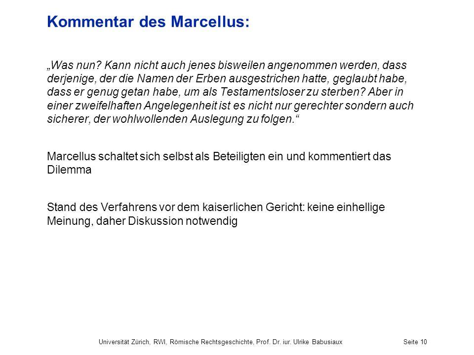 Kommentar des Marcellus: