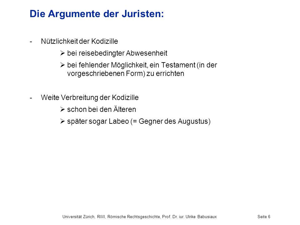 Die Argumente der Juristen: