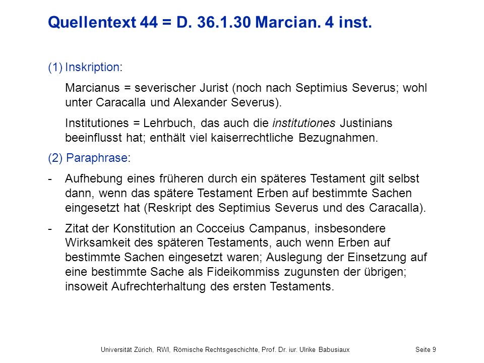 Quellentext 44 = D Marcian. 4 inst.