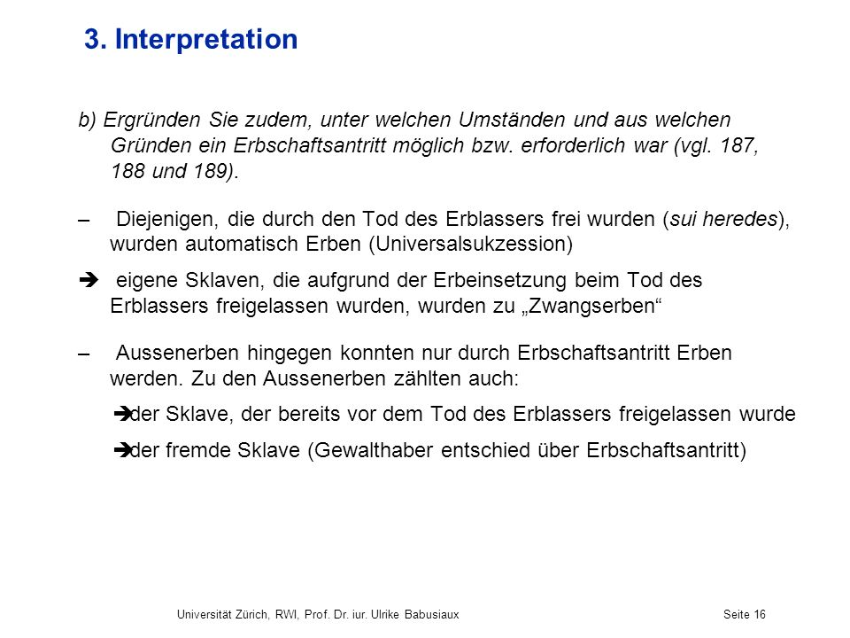 3. Interpretation