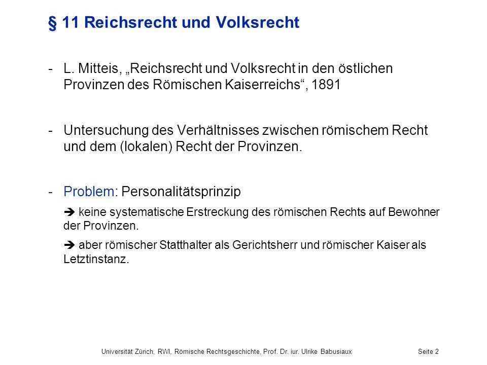 § 11 Reichsrecht und Volksrecht