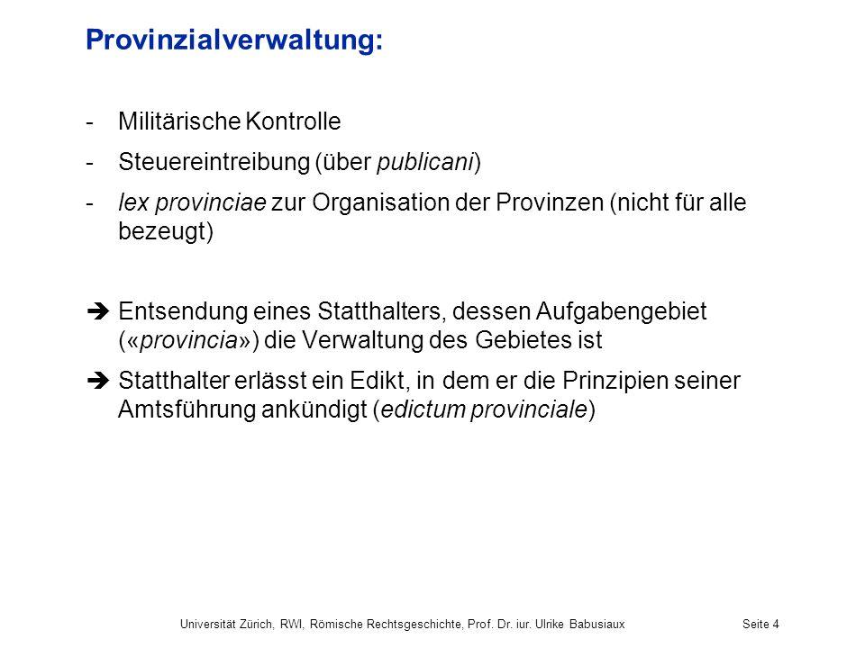Provinzialverwaltung: