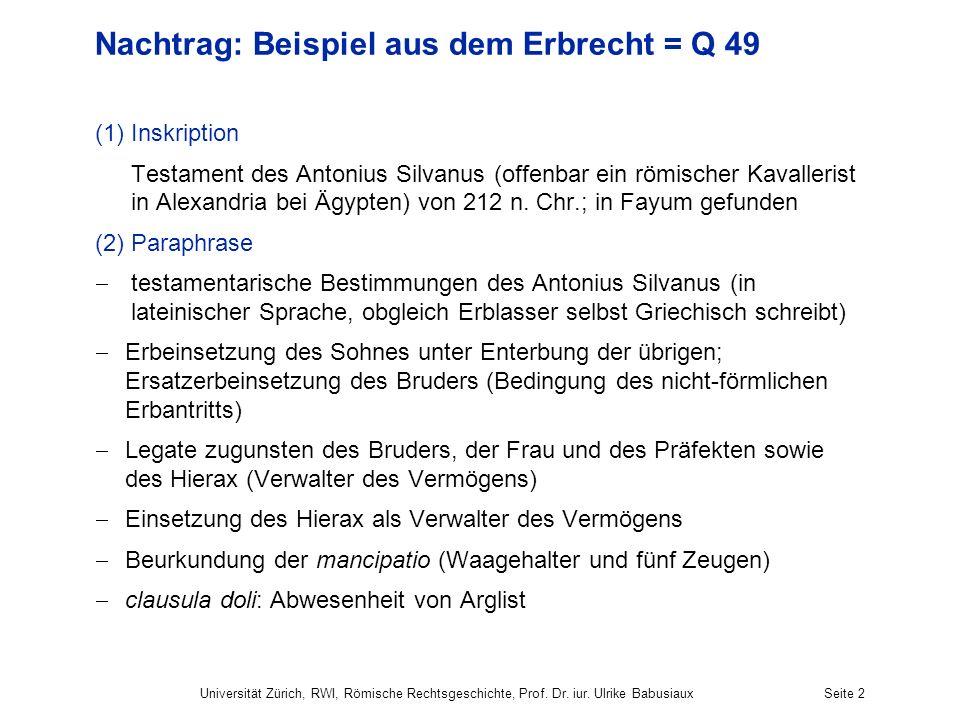 Nachtrag: Beispiel aus dem Erbrecht = Q 49
