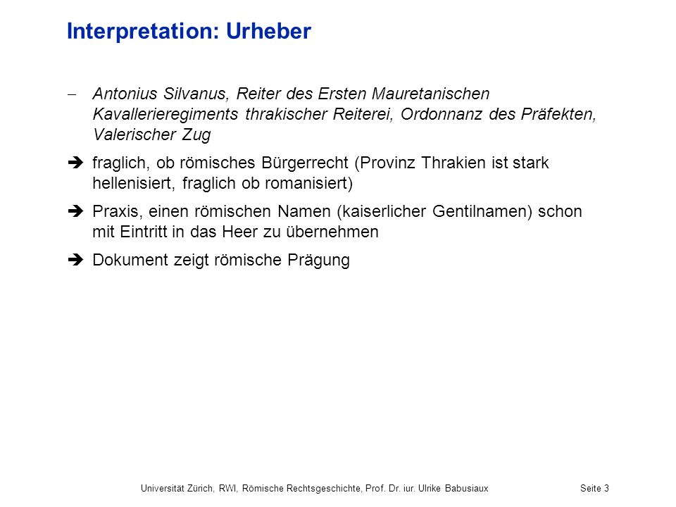 Interpretation: Urheber