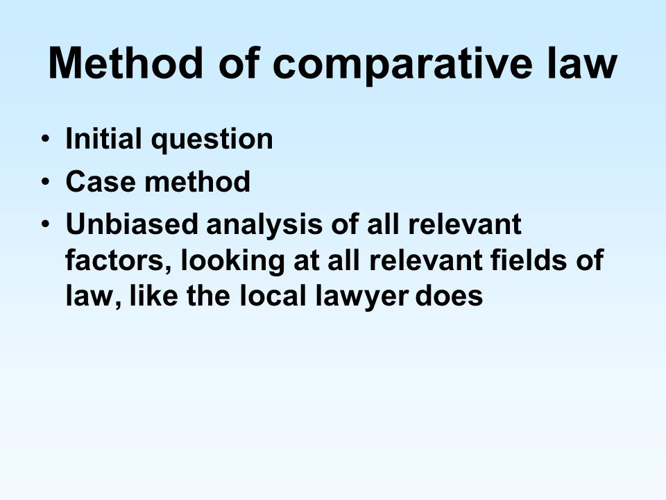 Method of comparative law