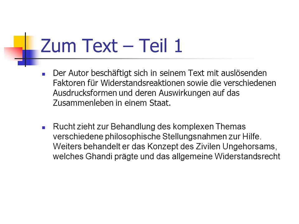 Zum Text – Teil 1
