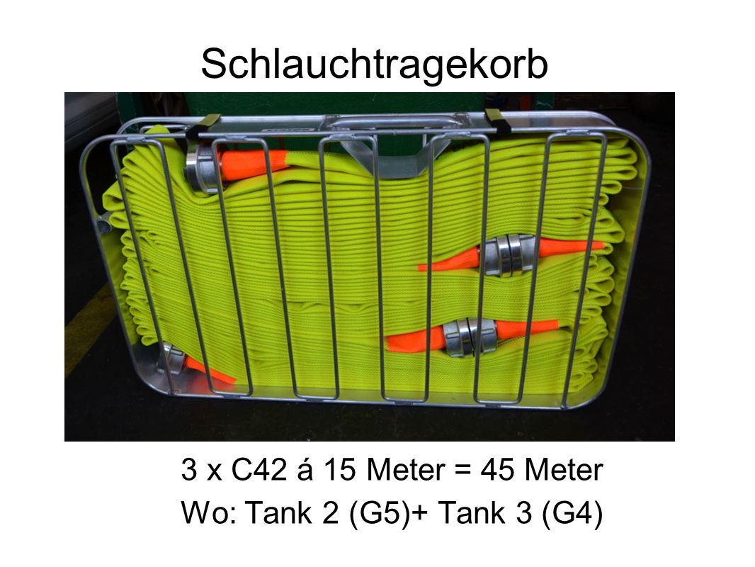 Schlauchtragekorb 3 x C42 á 15 Meter = 45 Meter
