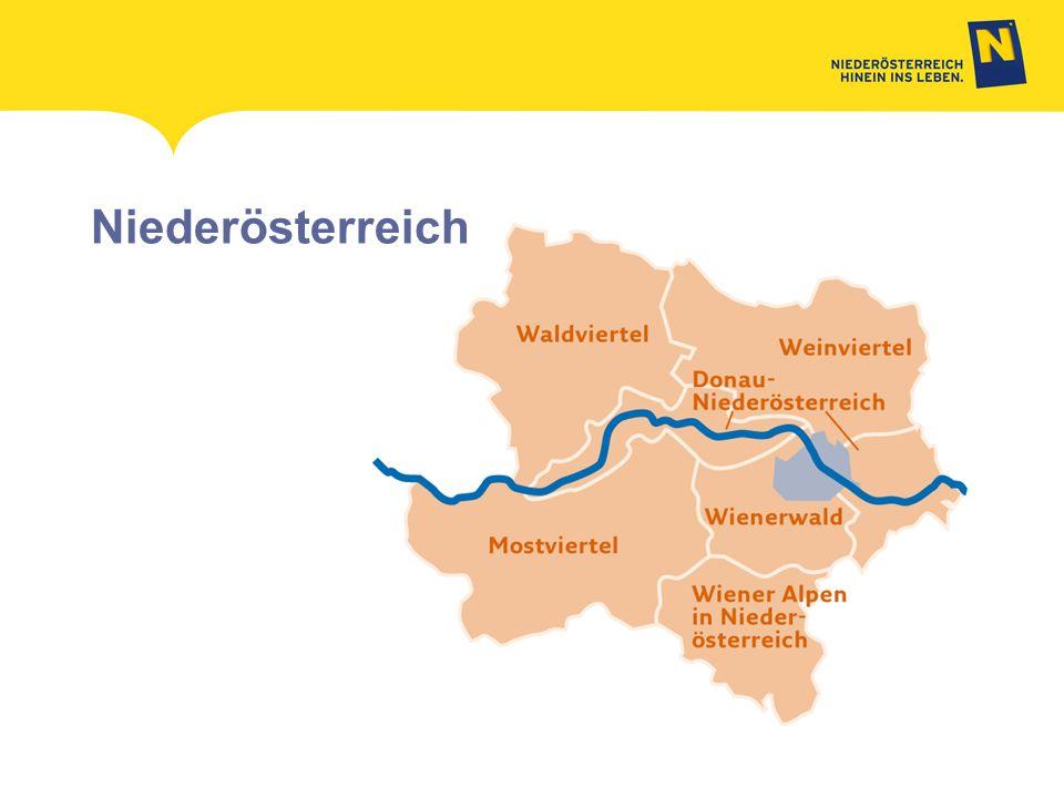 Niederösterreich MADL Aufbauend auf die Marke Niederösterreich wurde ein sinnvolles System erarbeitet, in dem die Tourismusdestinationen.