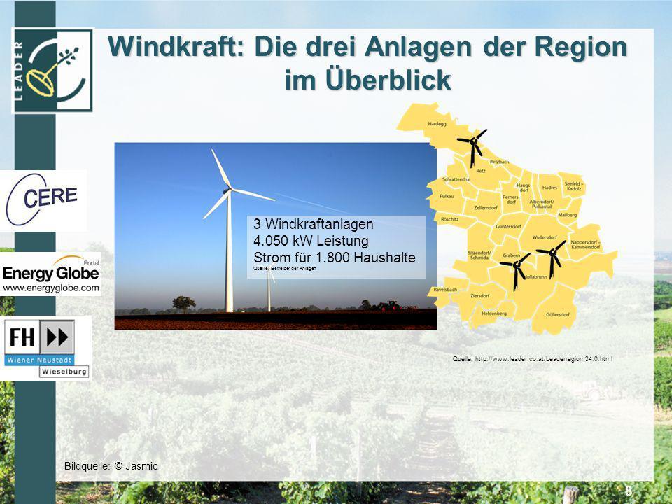 Windkraft: Die drei Anlagen der Region im Überblick