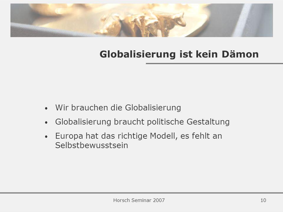 Globalisierung ist kein Dämon