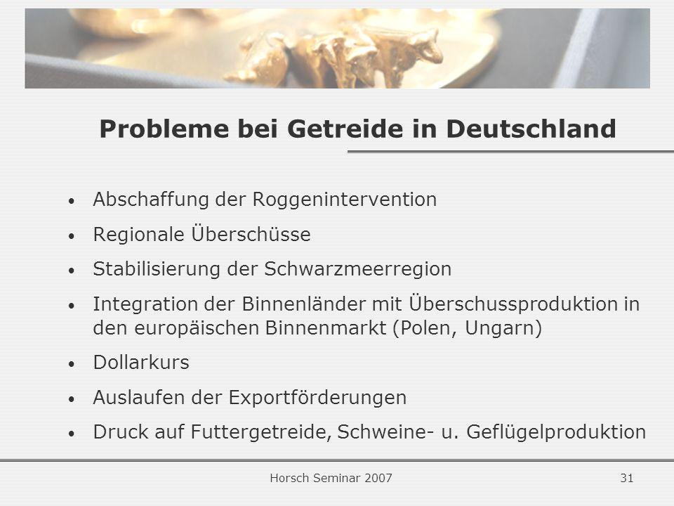 Probleme bei Getreide in Deutschland