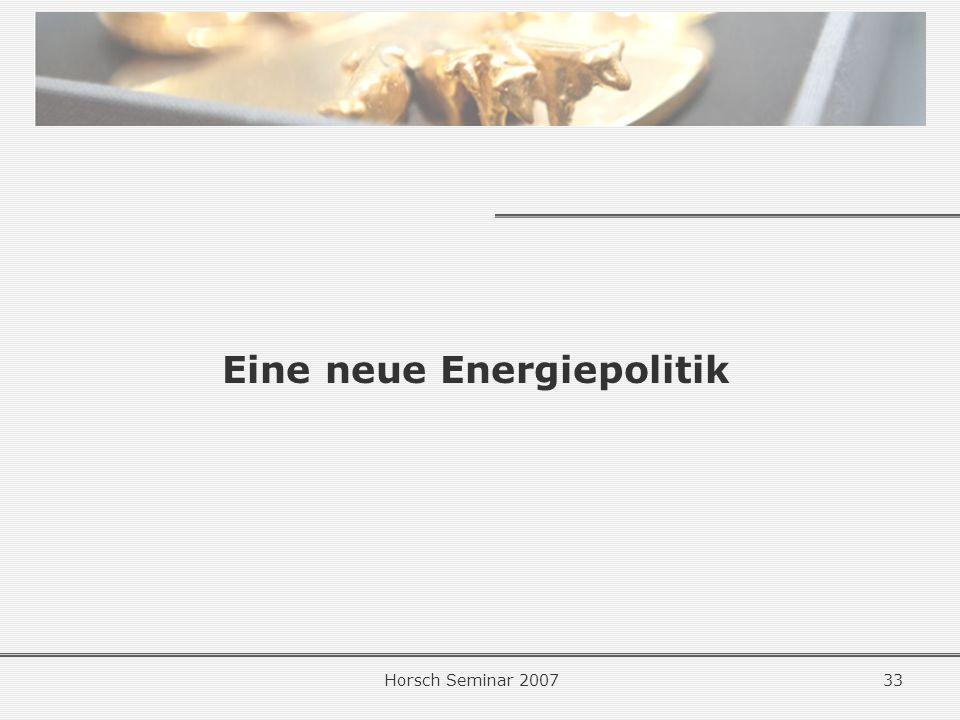 Eine neue Energiepolitik