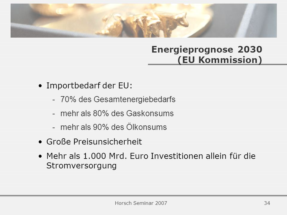 Energieprognose 2030 (EU Kommission)