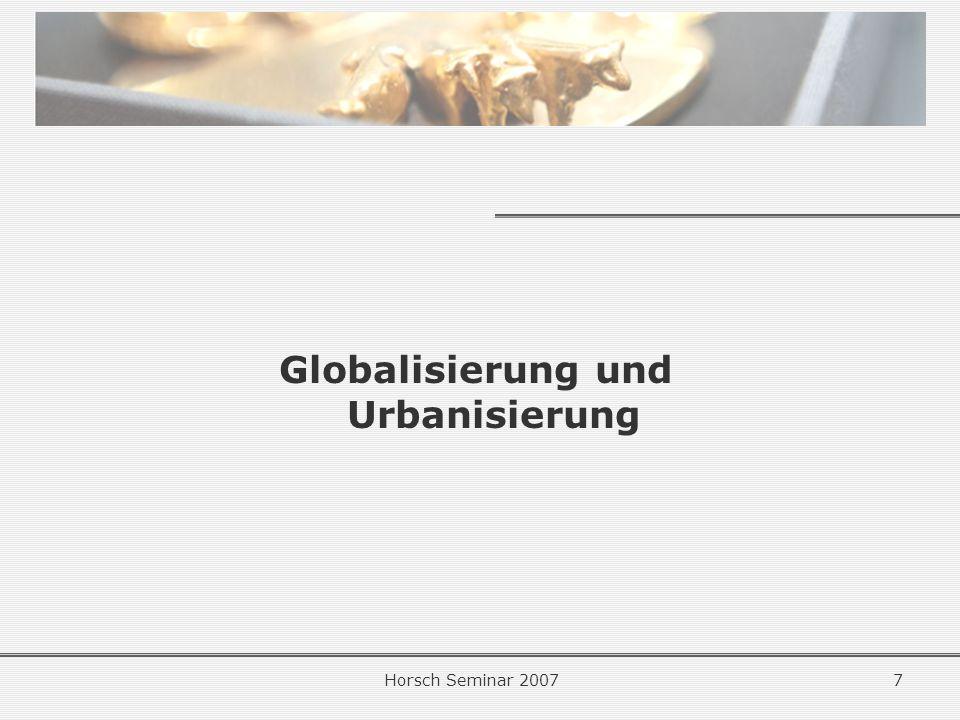 Globalisierung und Urbanisierung