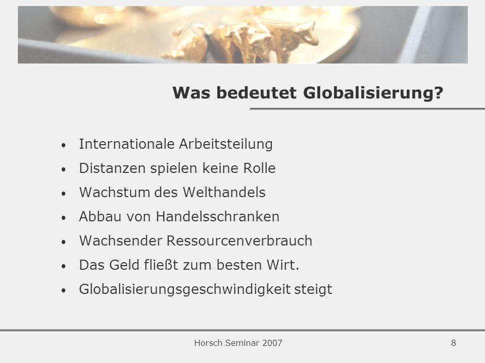 Was bedeutet Globalisierung