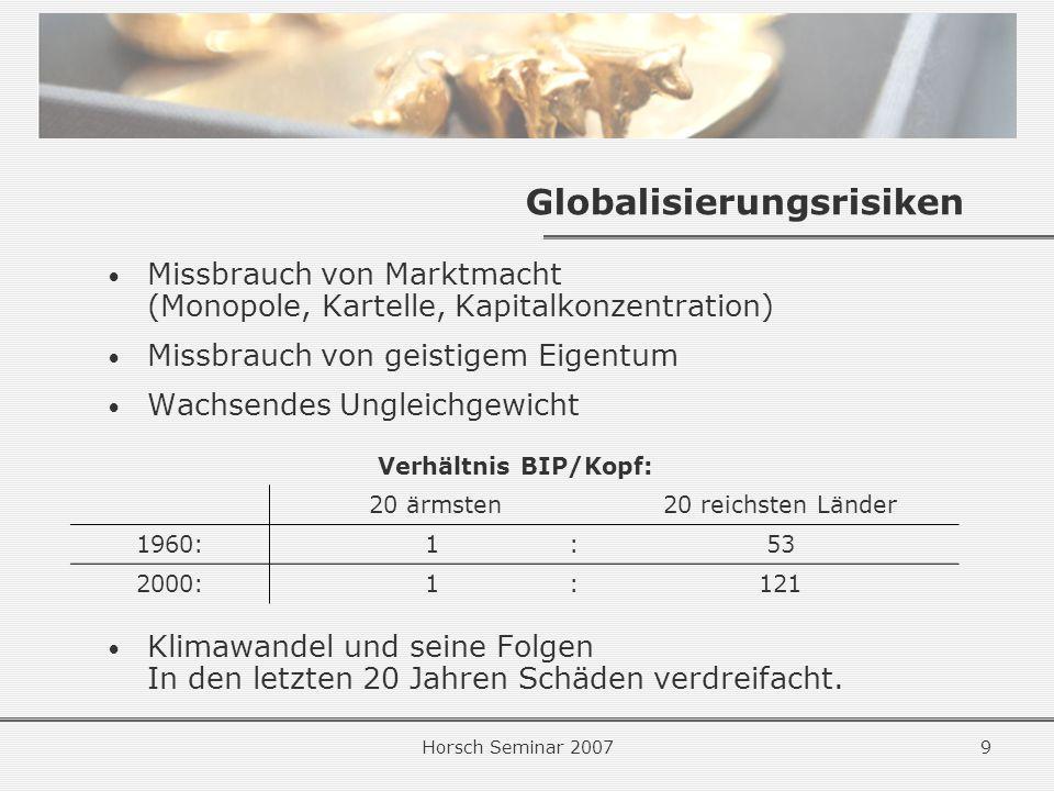 Globalisierungsrisiken