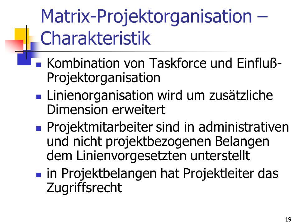 Matrix-Projektorganisation –Charakteristik