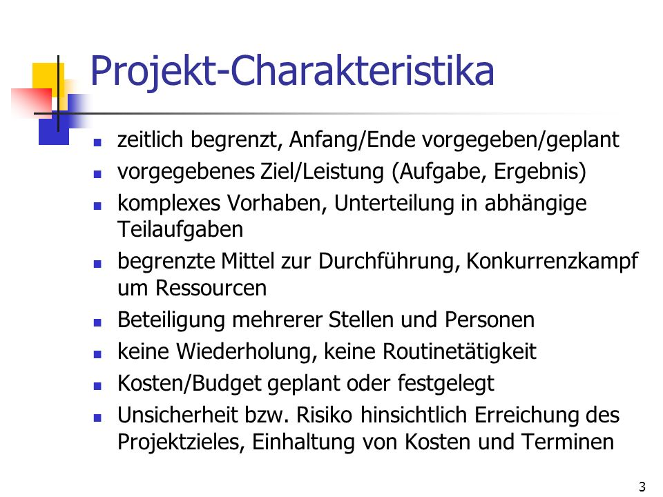 Projekt-Charakteristika
