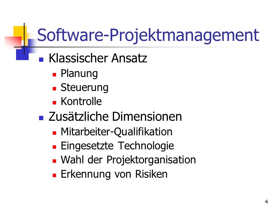 Software-Projektmanagement