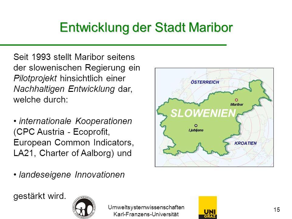 Entwicklung der Stadt Maribor