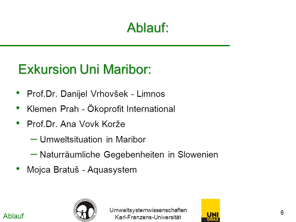Exkursion Uni Maribor: